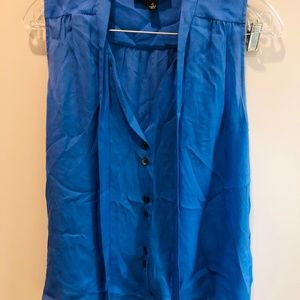 Elizabeth and James blue silk blouse size small